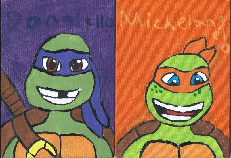 2012 TMNT Donatello and michelangelo