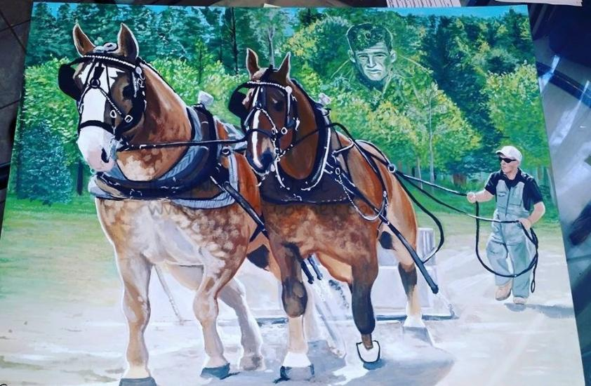 commission painting -horses