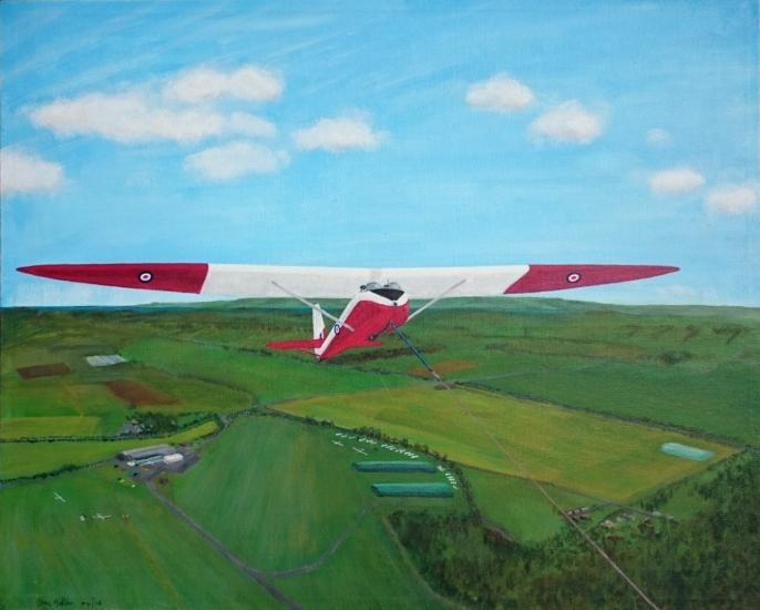 A Slingsby T21 vintage glider