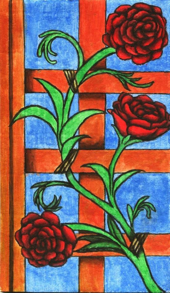 Croatian Manuscript-Roses