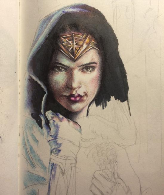 Wonder woman by Gal Gadot Wip 3