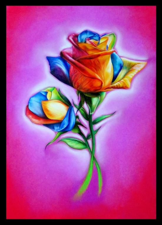 Rainbow Flowers - Happy Mother's Day