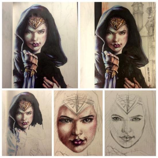 Progresión of my Wonder woman work