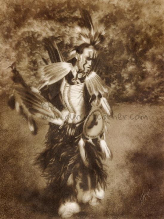 Eagle Dancer Sketch in progress