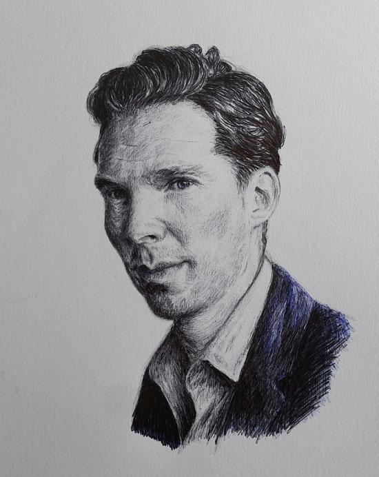 Benedict Cumberbatch  (ballpoint pen)