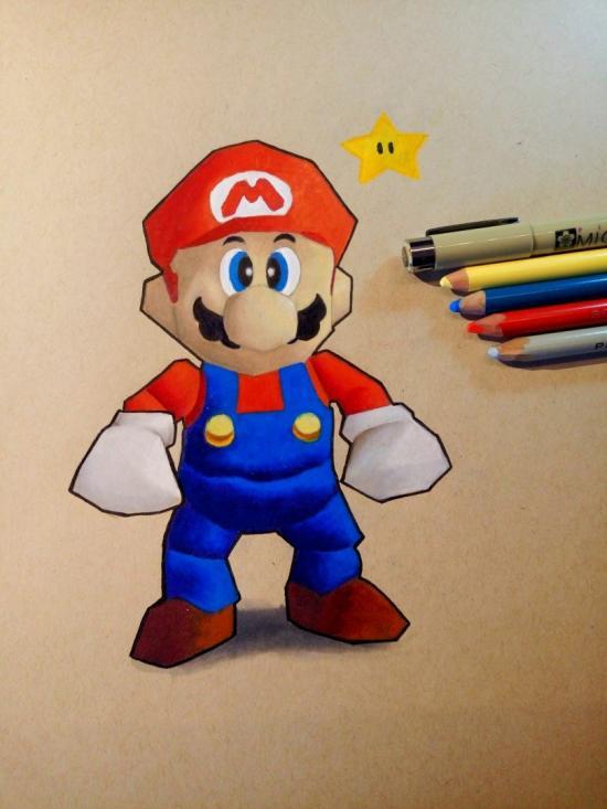 Super Mario N64 Retro Style