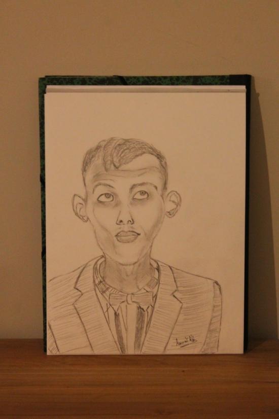 Drawing A3  Stromae  Belgian singer  Paul Van Have