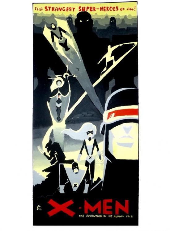 X-men painting poster