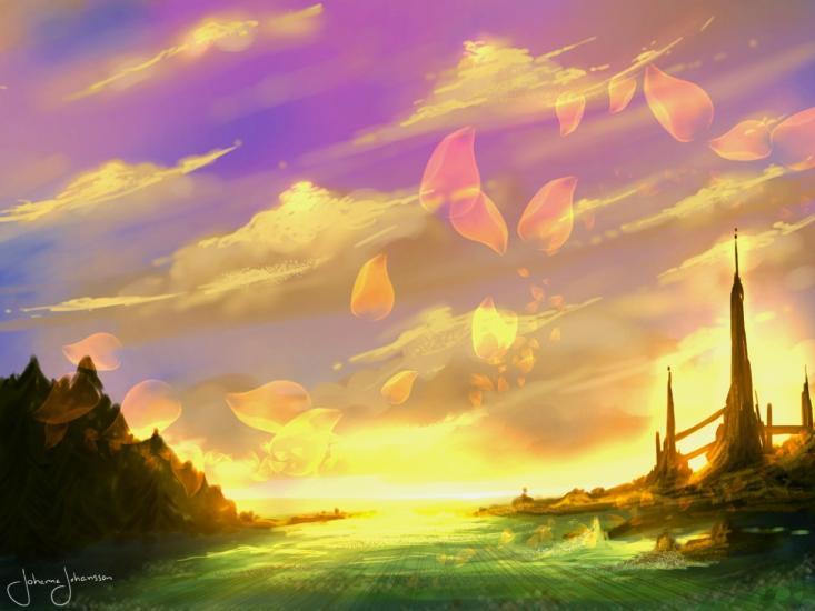 Vibrant scenery