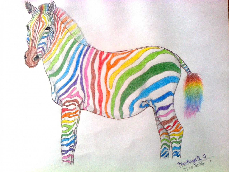 картинка радужная зебра это отличный