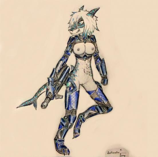 Nika Shark's Kinotchi Frame (nude)