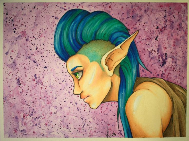 BLue hair elf (with YOUTUBE video)