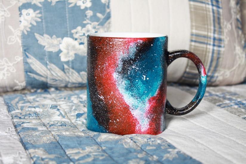 Galaxy mug (with DIY video)