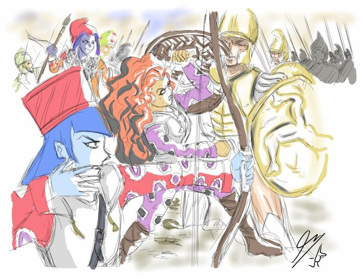 Dazzlings battle of Gaugamela