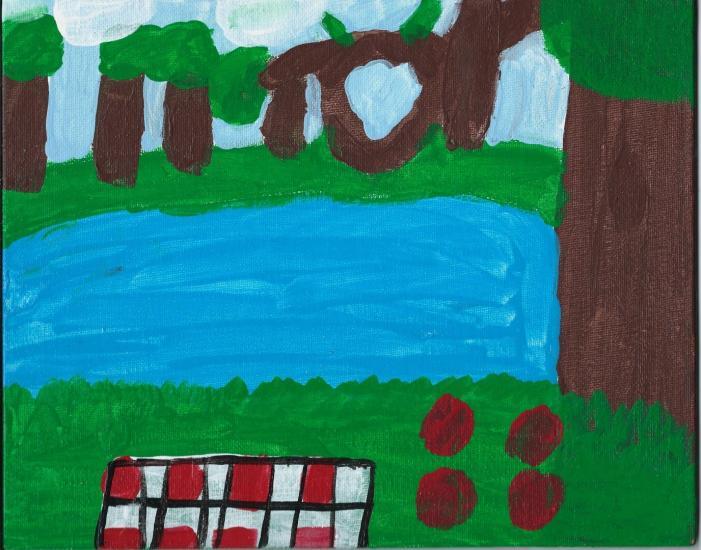 picnic painting