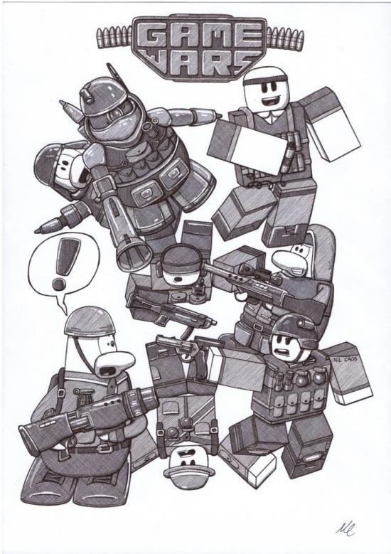 Game Wars T-shirt Design