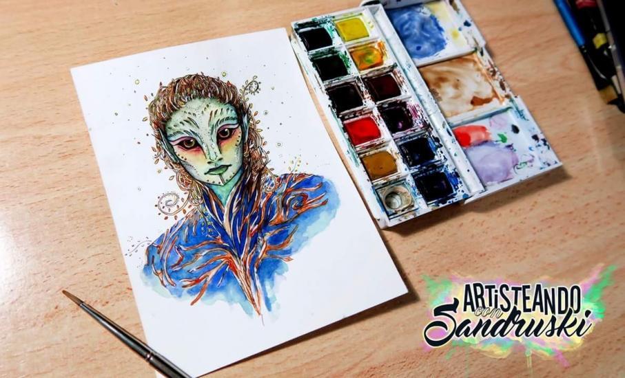 Sylvari - Watercolor Painting