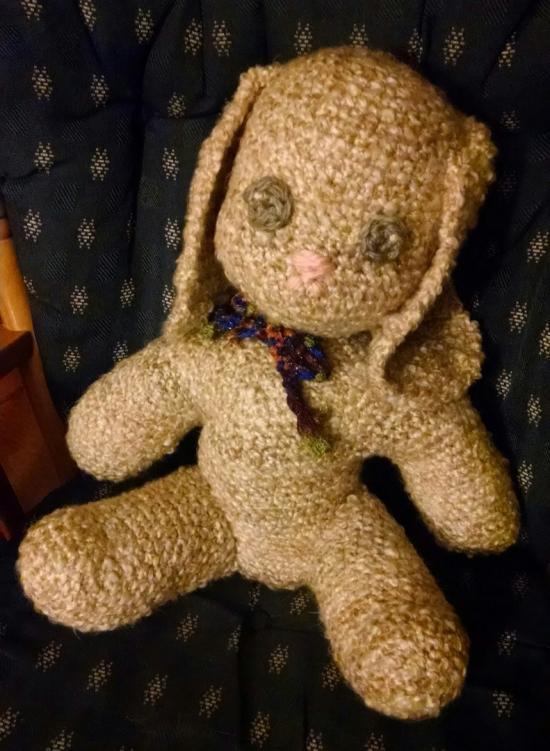 Large Crochet Rabbit Doll
