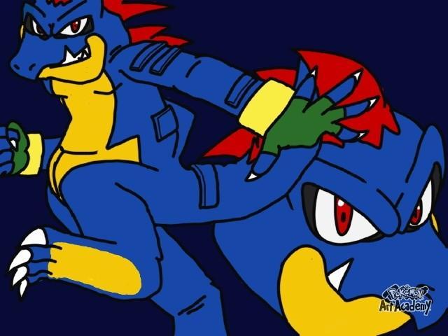 Sonic version of feraligator artwork