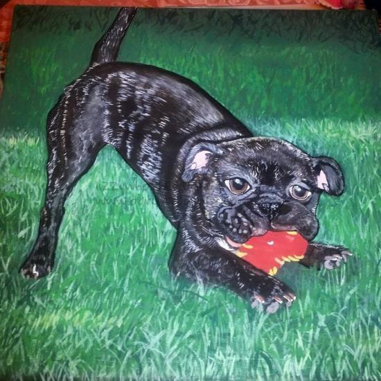 Pug painting... Commission