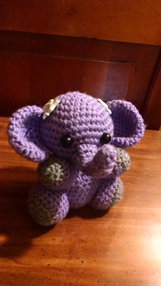 Baby Elephant Crochet Doll