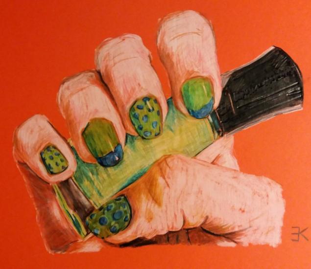 Colourpencil hand sketch