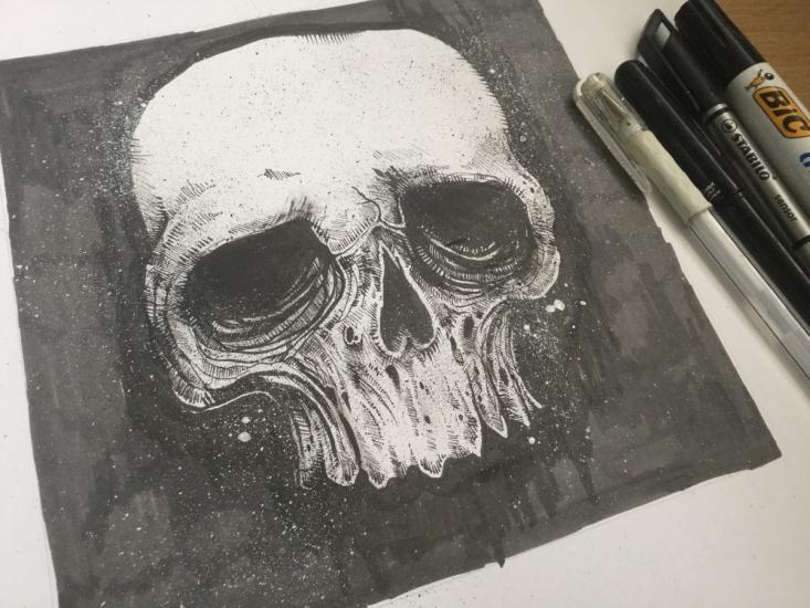 Skull | markmaking practice