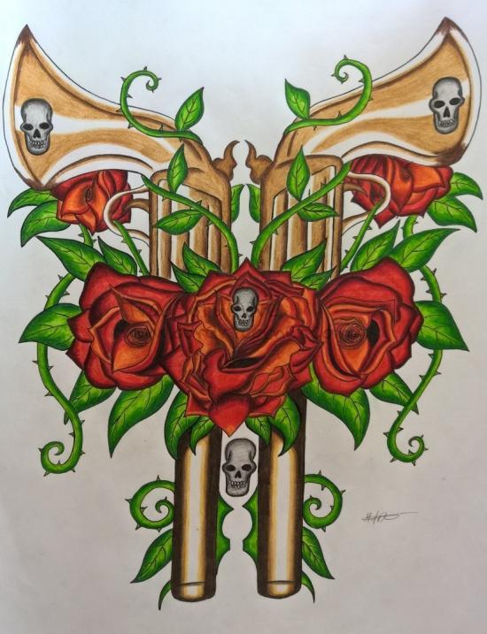 Rose Guns (Inked/Pencil Redo)