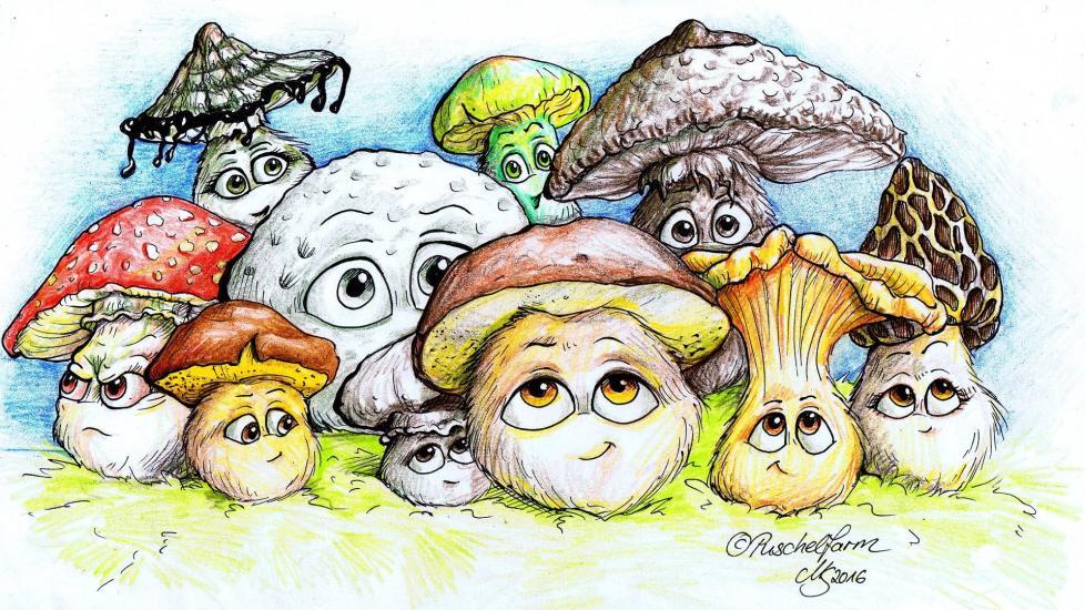 Mushroom Puschels (Pilzpuschel)