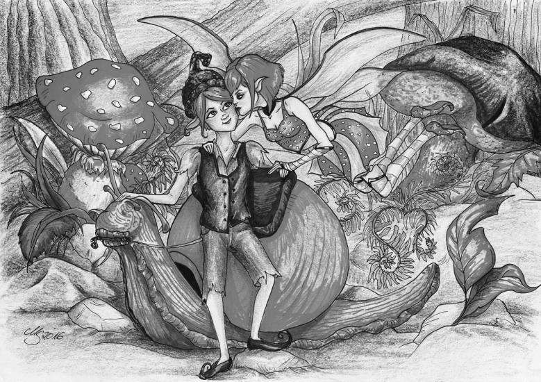 Fairy Kiss (Black & White)