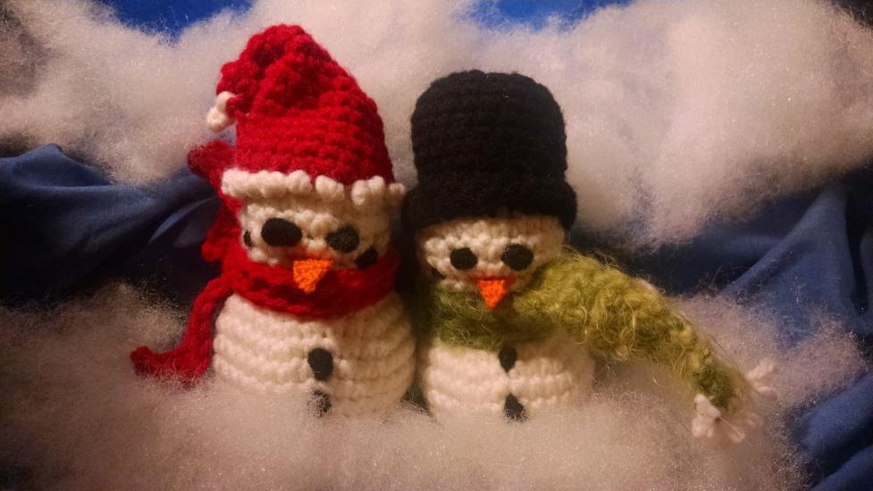 Crochet Snowman Dolls