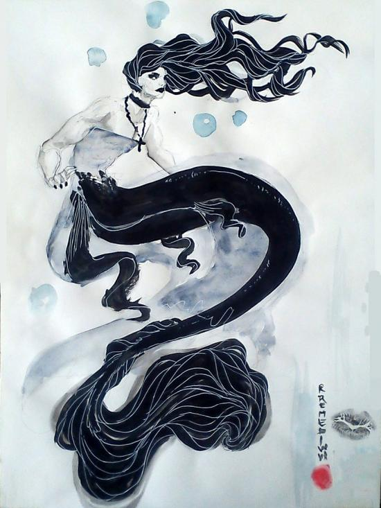 Goth Mermaid Boy