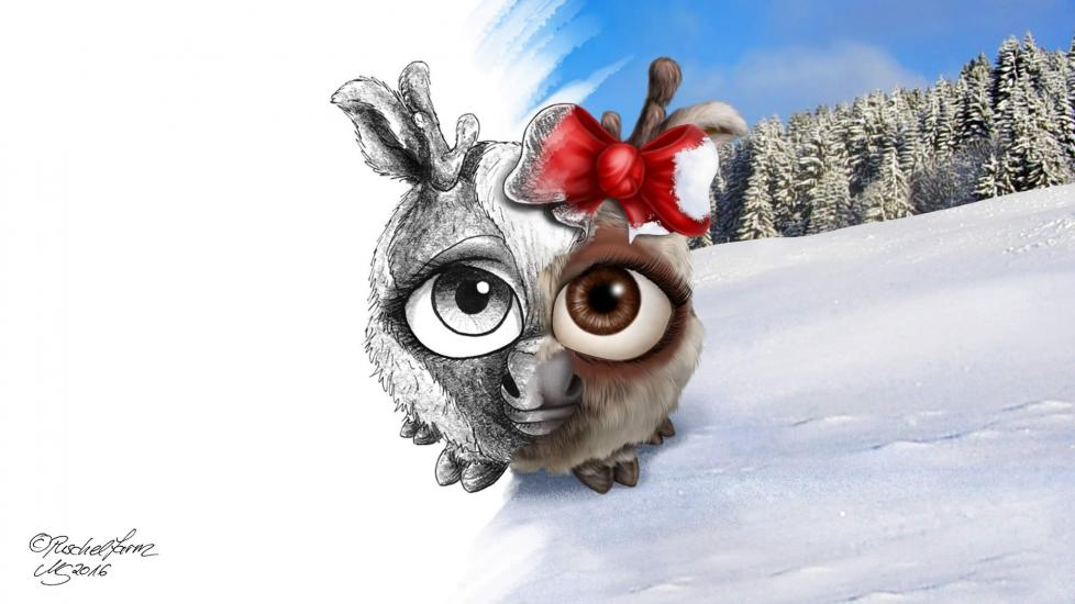 Reindeer Puschel female(Rentierpuschel) - Blender