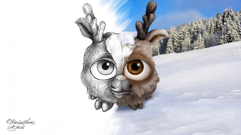 Reindeer Puschel (Rentierpuschel) - Blender