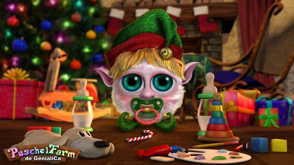 Little Christmas Elf Puschel (male)