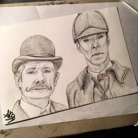 Holmes & Watson - Cumberbatch and Freeman version