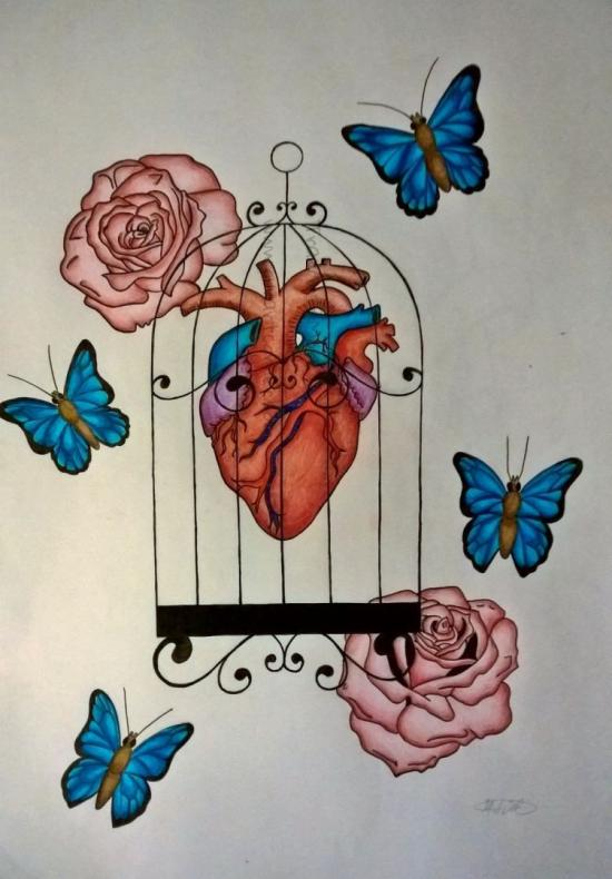 Caged Heart (Inked/Coloured)