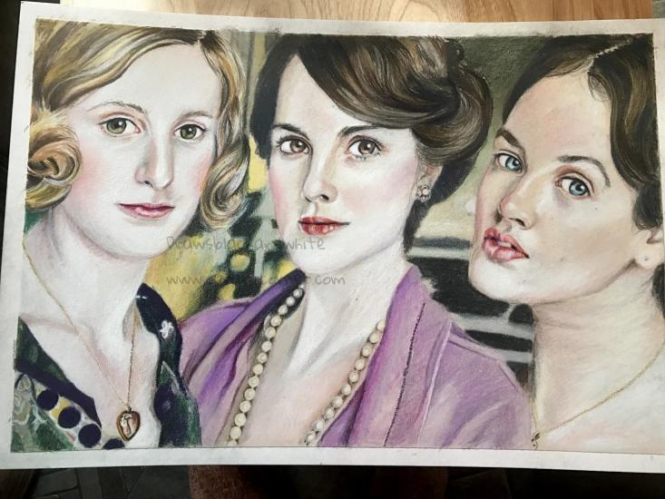 The girls of Downton Abbey