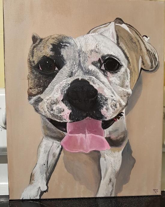 pet portrait painting. commission work