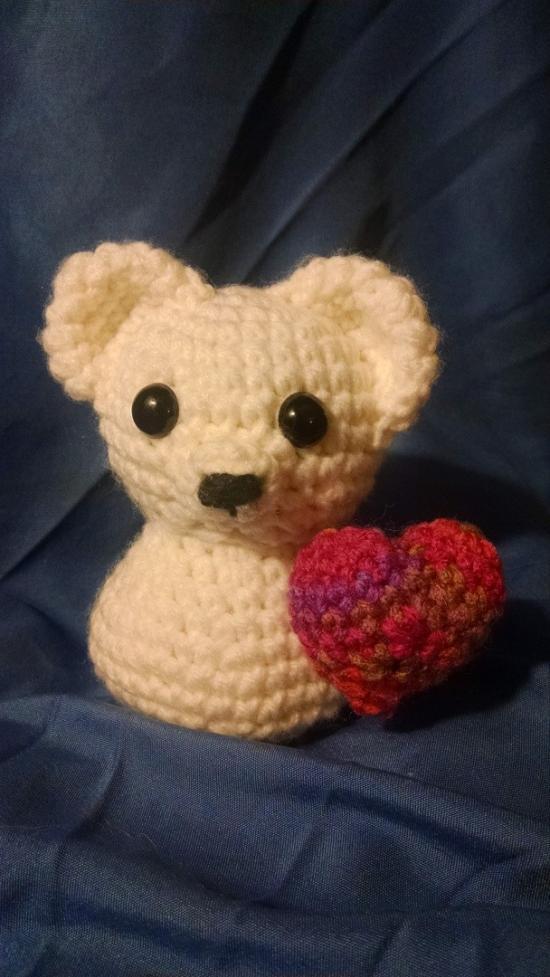 Bear With A Heart Crochet Doll