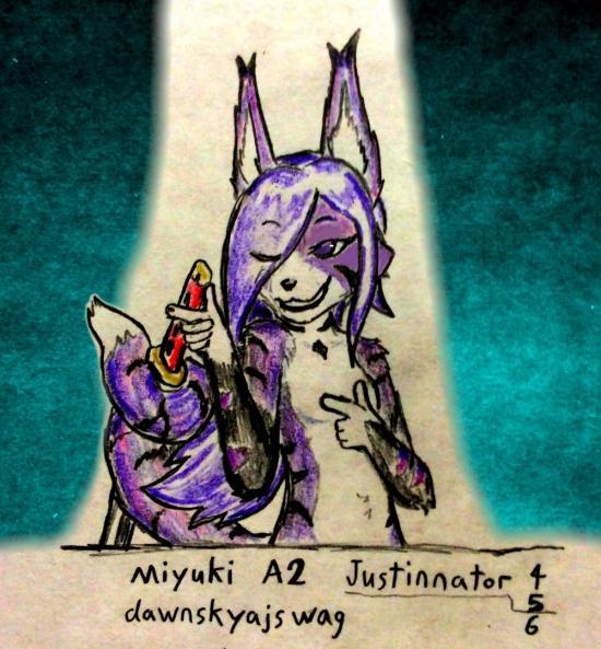 Miyuki flirty pose challenge