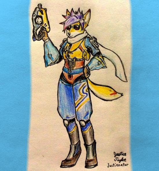 Tracer fox girl