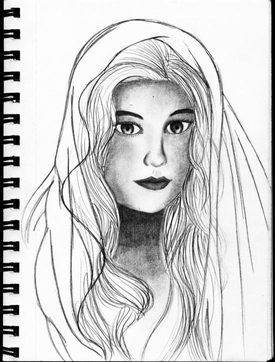 Girl Sketch Portrait
