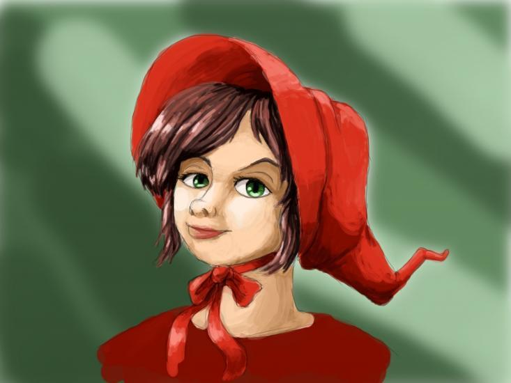 Bonnet Witch (Digital Painting)