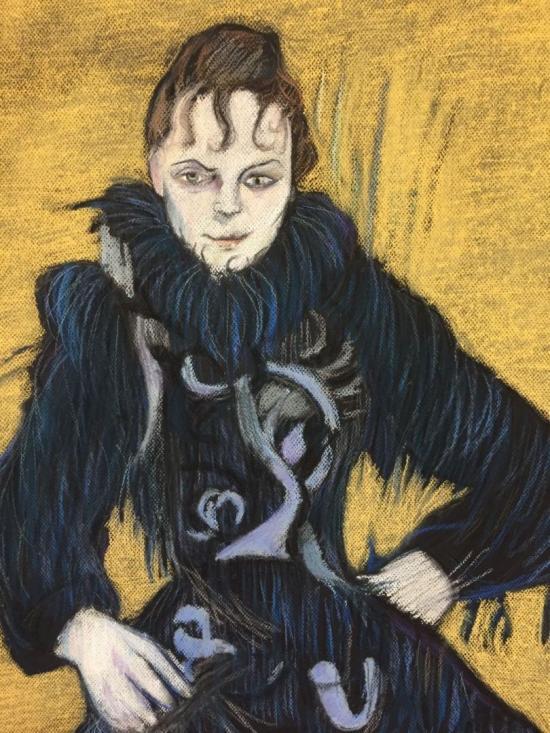 Pastel Study of a Toulouse-Lautrec