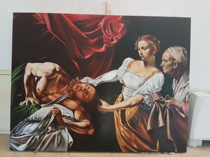 After Caravaggio - Giuditta e Oloferne - work in p
