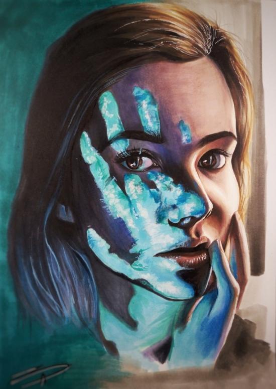 Copic woman illustration