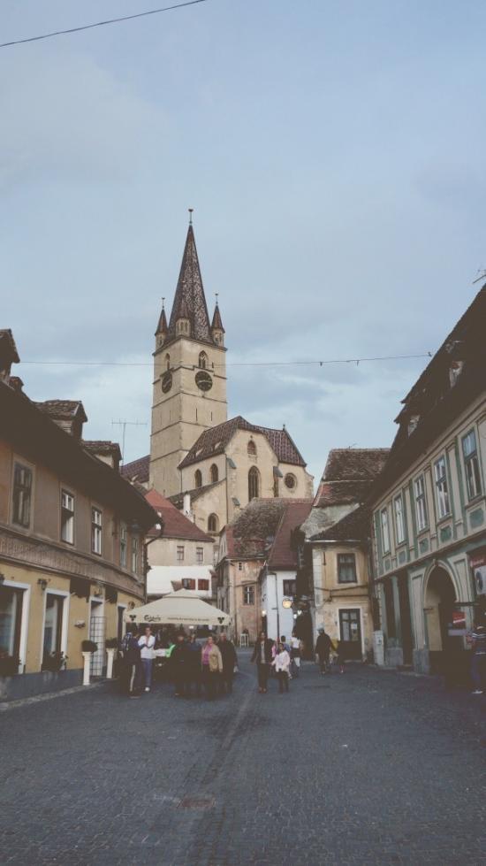 Medieval city scene