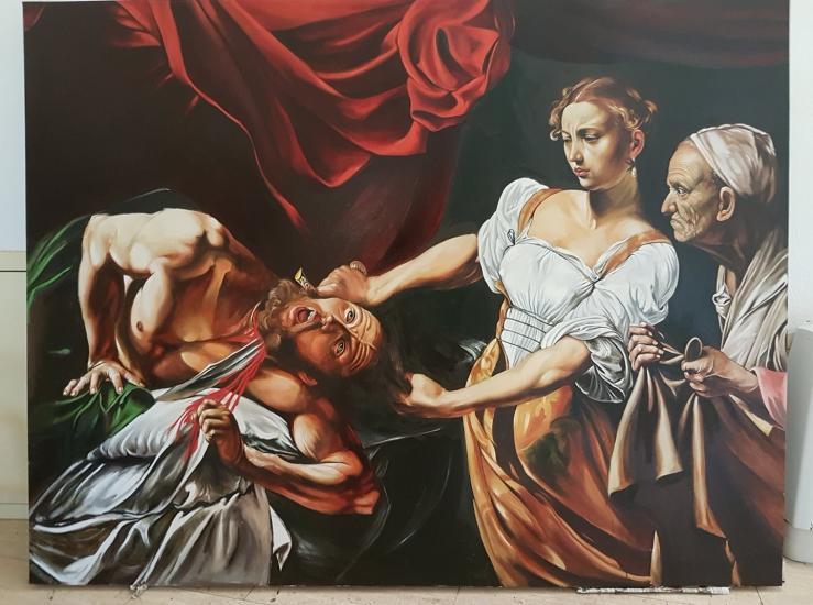 After Caravaggio - Giuditta e Oloferne