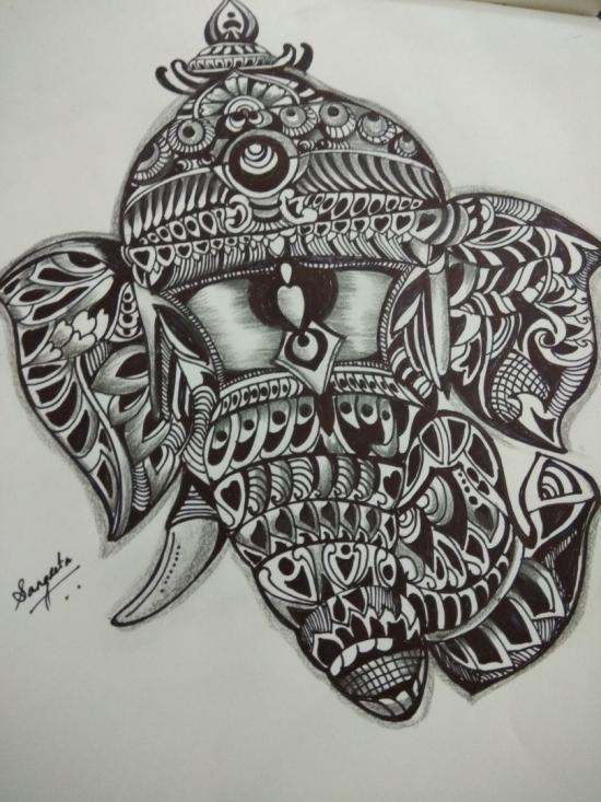 Zentangle Ganesha